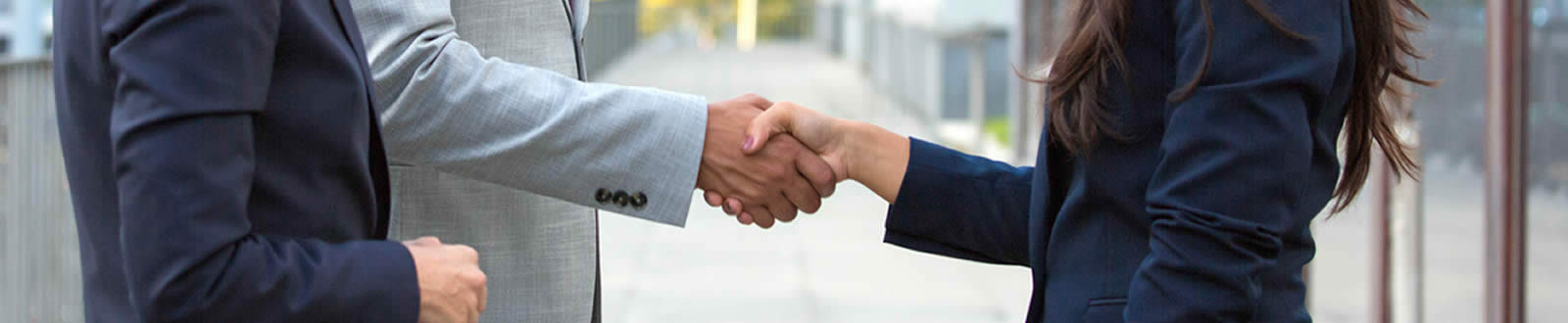 two businessman make a deal